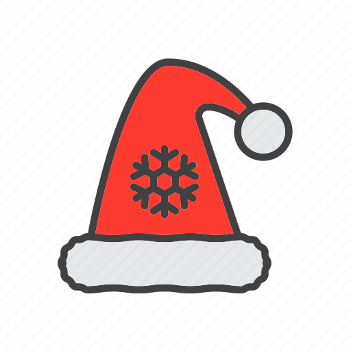 christmas, claus, hat, santa icon