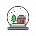 globe, snow, winter icon