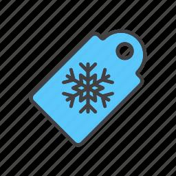 christmas, price, snowflake, tag icon