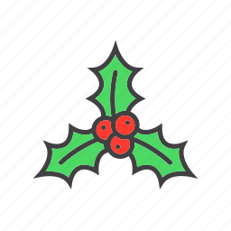 berry, christmas, holly icon