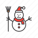 christmas, man, snow, snowman icon