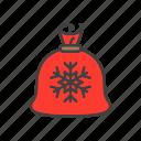 gifts, bag, claus, christmas, santa