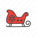 christmas, claus, santa, sled, sleigh icon