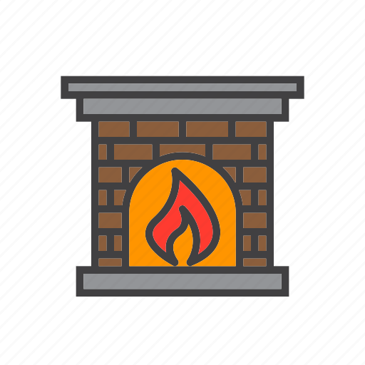 Fire, fireplace, flame icon - Download on Iconfinder