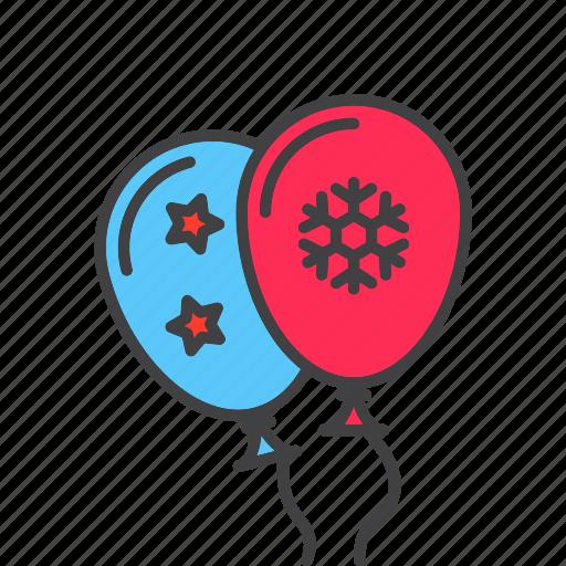 balloon, festive, flying icon