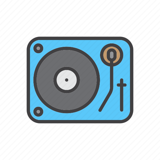 dj, music, turntable, vinyl icon