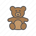 bear, soft, teddy, toy icon