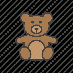 bear, soft, teddy, toy icon