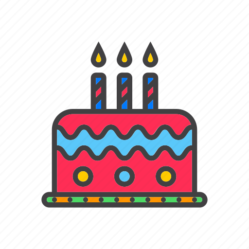 Birthday, cake, candles icon - Download on Iconfinder