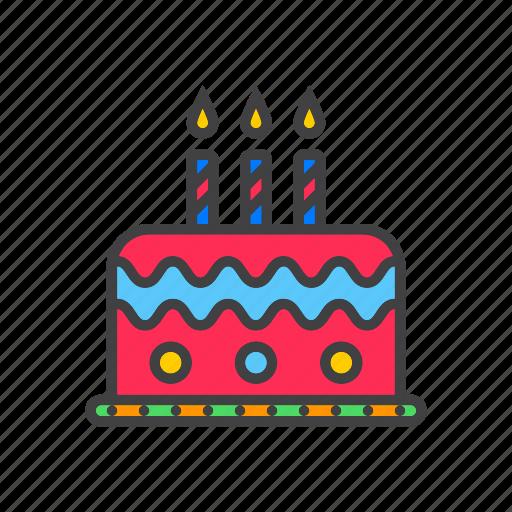 birthday, cake, candles icon