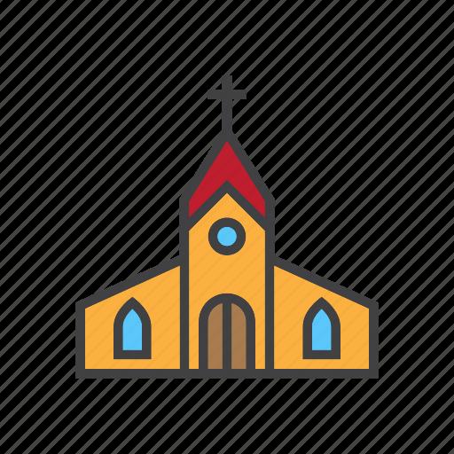 building, christmas, church icon