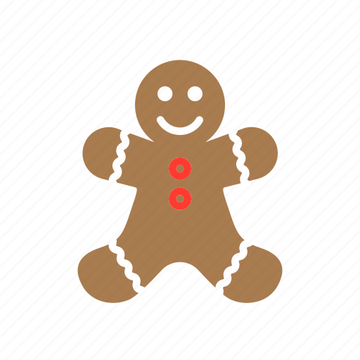 christmas, cookie, gingerbread, man icon