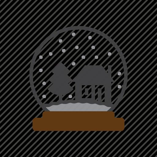 globe, snow, winter icon