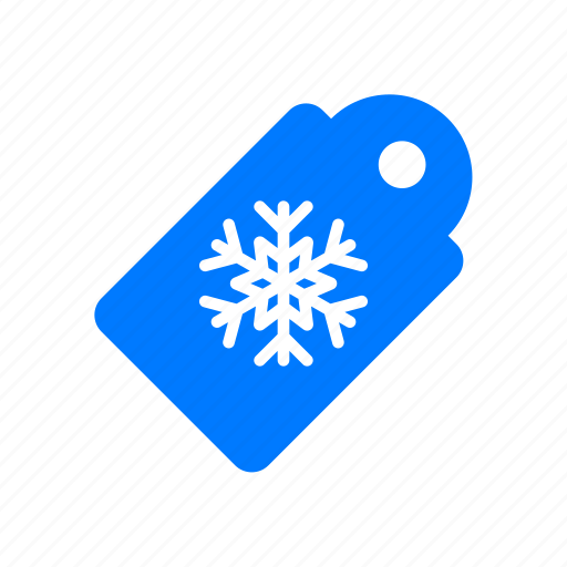 christmas, price, snowflake, tag icon