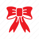 bow, christmas, festive icon