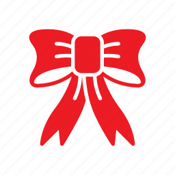 bow, christmas, festive icon