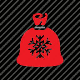 bag, christmas, claus, gifts, santa icon