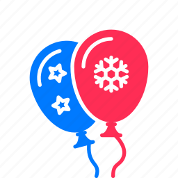 balloon, festive, flying icon