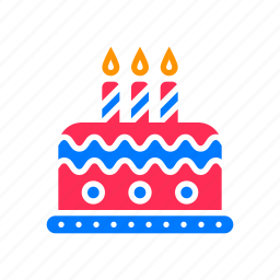 birthday, cake, candles icon