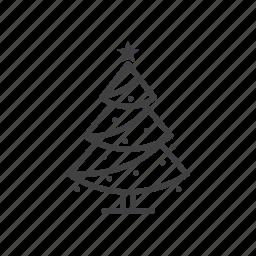 christmas, fir, pine, spruce, tree icon