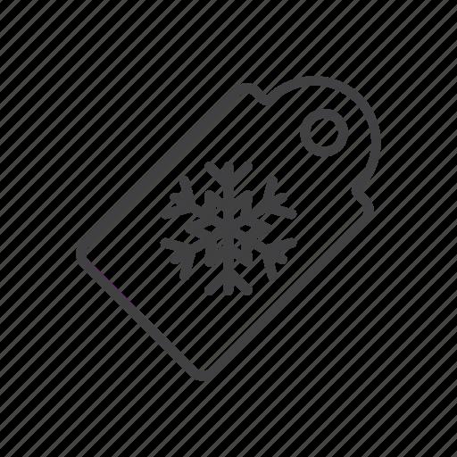 snowflake, tag icon
