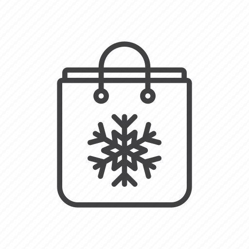 bag, shopping, snowflake icon