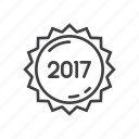 label, new, sticker, year icon