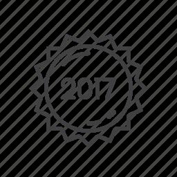 label, new, sticker, year icon