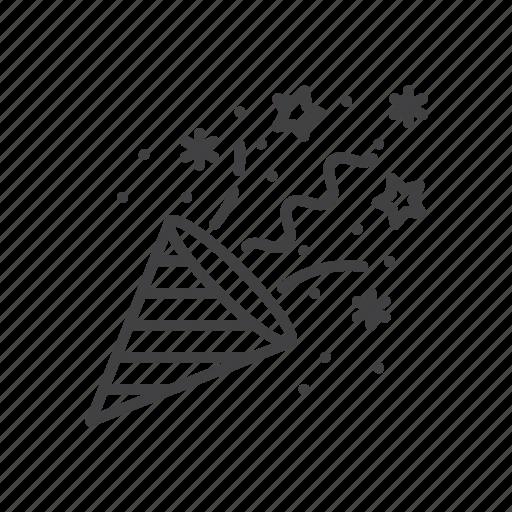 cone, confetti, popper icon
