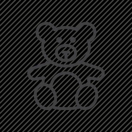 bear, soft, stuffed, teddy, toy icon
