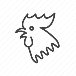 new, rooster, year, zodiac icon