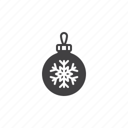 ball, christmas, snowflake, tree icon
