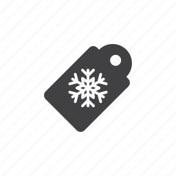 christmas, snowflake, tag icon
