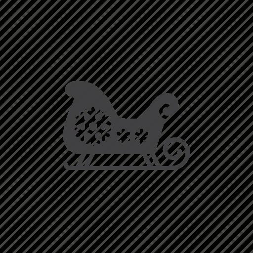 santa, sled, sleigh icon