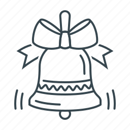 bell, bow, chime, christmas, decoration, signal, xmas icon