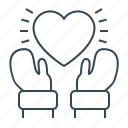 christmas, give, give love, hands, heart, love, valentine's day icon