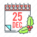 calendar, celebration, christmas, december, event, xmas icon