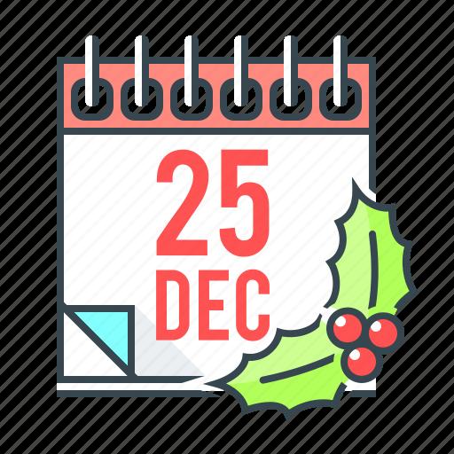 calendar, celebration, christmas, december, event, xmas icon