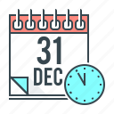 december, calendar, event, new year