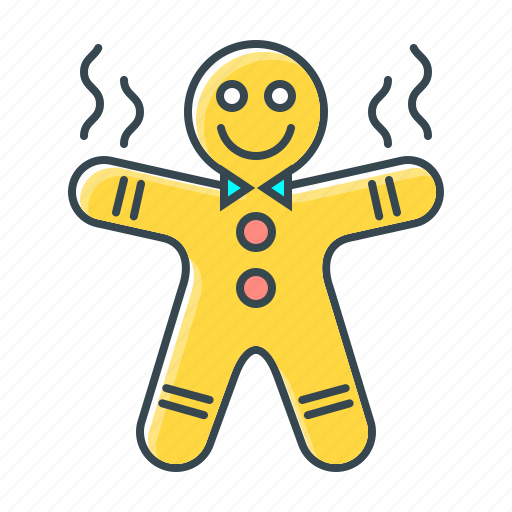 gingerbread, gingerbread man, man, pastry icon