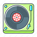 christmas, music, sound, turntable, vinyl icon