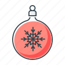 ball, christmas, christmas ball, new year, snowflake icon