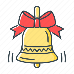 bell, bow, bowknot, christmas, decoration icon