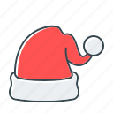 cap, cap of santa, christmas, hat, santa icon