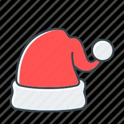 cap, cap of santa, christmas, hat, santa icon