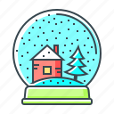 ball, christmas, christmas ball, snow, snowflake, winter icon