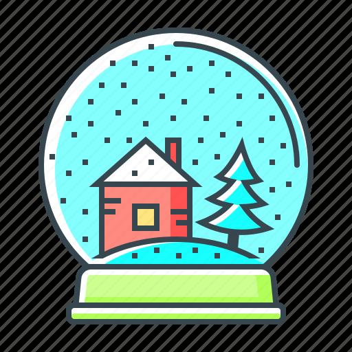ball, christmas, christmas ball, snow, snowflake, winter icon
