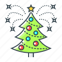 christmas, christmas tree, decoration, new year, tree icon
