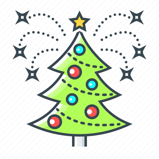christmas, christmas tree, decoration, new year, tree icon