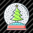 christmas, christmas ball, christmas tree, new year, tree, winter icon